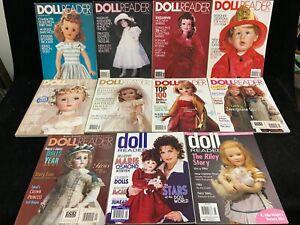 DOLL READER MAGAZINES, LOT OF 11, 1993 -2005