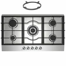 Cookology gh905ss | 90cm in acciaio inox built-in piano cottura 5 fornelli a gas & Stand Wok