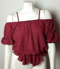 NWT Ladies Free People Mauve Off Shoulder Top Size XS