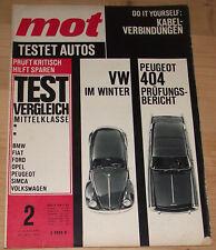 MOT 02/1964 Peugeot 404 Ford 12M VW 1500 Opel Rekord Ford 17M Fiat 1300/1500