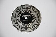 LENCO Stroboscop Alu Scheibe Stroboscope Disk 33 45 78 z.B. für L75 L78