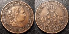 Espagne - Isabel II - 2 1/2 centimos de escudo 1867, Barcelona - KM#634.1