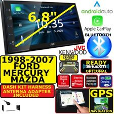 98-07 FORD MERCURY MAZDA JVC-KENWOOD NAV BLUETOOTH CARPLAY ANDROID AUTO STEREO