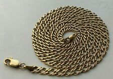 """QUALITY 375 9CT GOLD FANCY LINK CHAIN NECKLACE - 18.5"""" inches - 7.2g"""