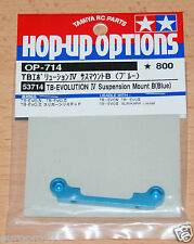 TAMIYA 53714 TB Evolution IV suspension mount B (bleu) (TA05 / tb02), NIP