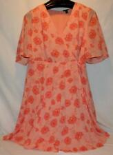 Torrid NWT Cute Floral Faux Front Wrap Midi Dress, Size 16 Free Shipping!