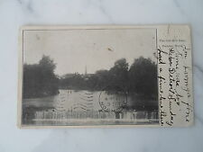 Dundee Mi Mich Michigan-The Old Mill Dam-early postcard 1905