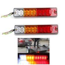 Pair 12V ATV Truck 20 Led Trailer Rear Turn Signal Lamp Tail Brake Reverse Light