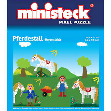 Pink Pony auf farbiger Platte Pferdekopf Ministeck 31317 999015