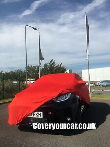 Toyota GR Yaris Indoor Soft Fleece Car Cover with Mirror Pockets - Red