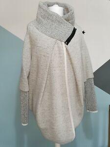 Made In Italy Lagenlook lana Wool Blend  Jacket/Coat in Grey One Size UK 14-20