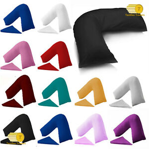 Luxury V Shaped Orthopeadic Pillow Head Neck Back Support With Free Pillow Case