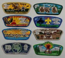 Trapper Trails Council SA-66 to SA-72 2007 Numbered Camp csp set Mint FREE SHIP