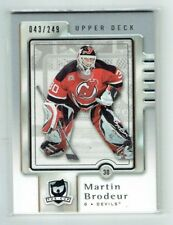 06-07 UD The Cup  Martin Brodeur  /249  HOF  Tough Card