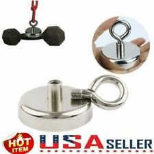 200lbs Pulling Force Fishing Magnet Super Strong Neodymium Round Rare Earth Hot