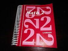 Math 2 Home Study Teacher's Edition homeschooling 2nd grade Larson SAXON