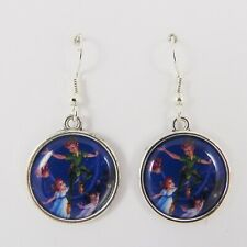 PETER PAN EARRINGS disney big ben vintage flying neverland tinkerbell wendy