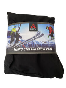 Gerry Men's Stretch Snow Pant Water Res Fleece Lined Black Medium NEW with Tags