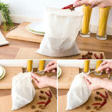 Reusable Cotton food filter bag NUT MILK MYLK SPROUTING JUICE MESH RAW FOOD SOUP