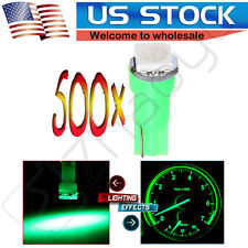 500X T5 Wedge 1-5050SMD Dashboard Cluster Gauge LED Light Bulbs Green For Honda