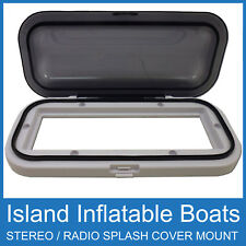 MARINE RADIO WATERPROOF COVER HOUSING WHITE BOAT CAR STEREO SHIELD FREE POSTAGE
