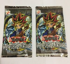 (2x) Metal Raiders Booster Packs 2002 - Factory Sealed Unlimited Yu-Gi-Oh