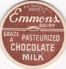 MILK BOTTLE CAP. EMMONS DAIRY. BIG RAPIDS, MI. REPRODUCTION