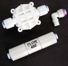 Reverse Osmosis Check Valve, Flow Restrictor 400 ML & Automatic Shut off valve