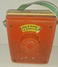 Fisher Price music box pocket radio Sing a song of Sixpence # 775