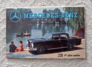 ORIG. VINTAGE 1950s MERCEDES-BENZ Z FOLD PROMO MAILER w/ 10 DIFFERENT CAR MODELS