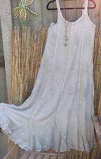 HipPY Gypsy Boho WICCA SILVER HOLY CLOTHING Pagan LONG Swirl Sun Dress BNWT L