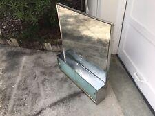 Mid Century Bathroom Wall Mount Medicine Cabinet Mirror Sliding Doors Organizer