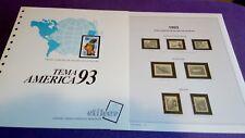 hojas sellos america upaep, Efilcar especial 1993.