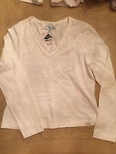 Escada Sport V Neck Long Sleeved Shirt White