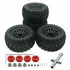 RCAWD Wheel Rim Tire & M4 Nylon Lock Nut For ARRMA 6S Nero Fazon Typhon 3S BLX