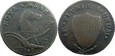 1787 New Jersey Copper, Maris 63-s, LARGE PLANCHET type, NEAR VF, SHARP!!!