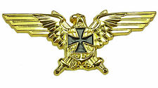 PIN Militaria Adler mit EK & Schwerter Goldfarben Ansteckpin aus Metall # 251
