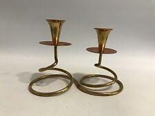 Design Kerzenständer 50er Modern Candlestick 50s Brass Copper Messing Kupfer