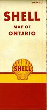 1953 Shell Road Map: Ontario - Heading Variant NOS