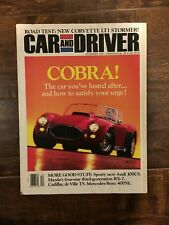 Car and Driver COBRA! 1991