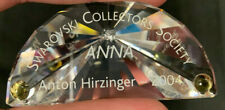 Swarovski Crystal Nameplate Plaque Scs Anton Hirzinger 2004 Anna Perfect Cond