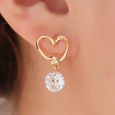 UK SELLER NEW WOMENS LADIES LOVE HEART CRYSTAL EARSTUD EARRINGS JEWELRY PARTY