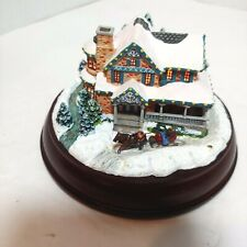 Thomas Kinkade Victorian Lights: Moonlit Sleigh Ride Lighted House As Is