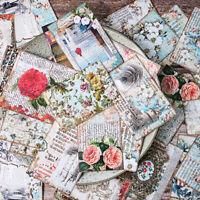 31stk 5*7cm Vintage Aufwendig Blume Papier Hintergrund DIY Scrapbooking Album