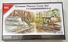 TRISTAR 1/35 WW II GERMAN PANZER TANK CREW SET 4 FIGURES MODEL KIT ITEM 055 F/S