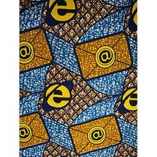 African Email Print Fabric BY 1/2 YARD Ankara kitenge fancy wax p1326
