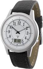 WT-RCW-SA La Crosse Technology Atomic Radio Controlled Watch Black Leather Band