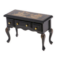 2Pcs 1:12 Mini Parasol w// Desk Lamp Beige Lampshade for Dollhouse Furniture