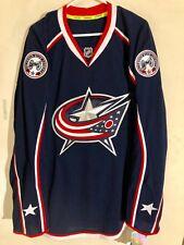 Reebok Authentic NHL Jersey Columbus Blue Jackets Team Navy sz 52