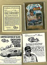 1996 Dale Earnhardt Classic Diamond Stars 23 Kt Gold Card Box COA